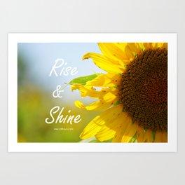 Rise and Shine Sunflower Art Print