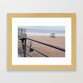 The Rails of Sand Framed Art Print