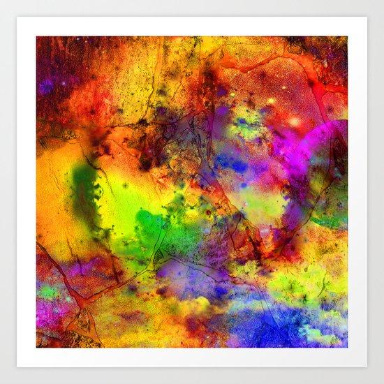 Colorful marble b Art Print