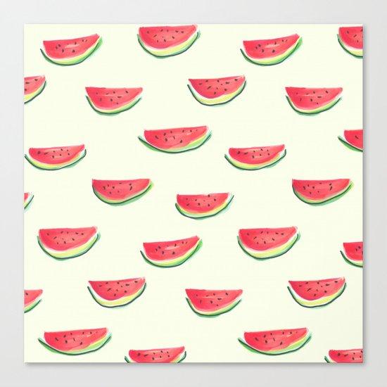 Watercolor Watermelon Canvas Print