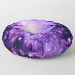 Orion nebUla. : Purple Galaxy Floor Pillow