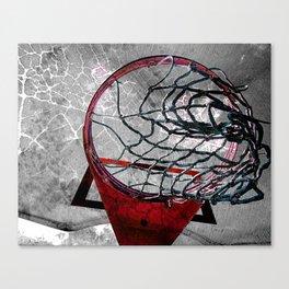 Basketball art swoosh vs 3 Canvas Print