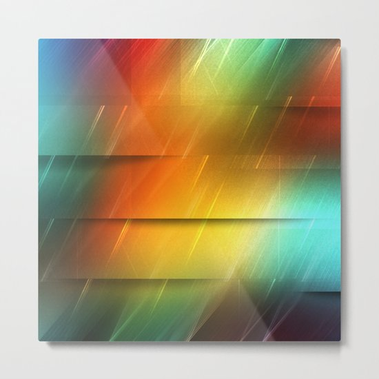 Diagonal Rainbow, 2 Metal Print