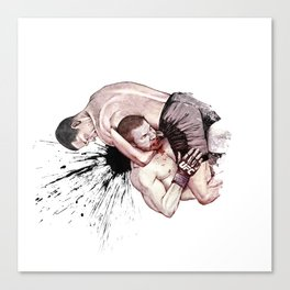 Nate Diaz vs. Jim Miller Canvas Print