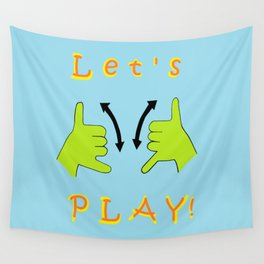ASL Let's PLAY! Wall Tapestry