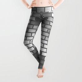 BRICK WALL #2 (Grays & White) Leggings