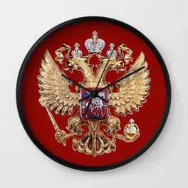 Russian Coat Of Arms Wall Clock