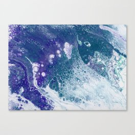 Purple and Teal Whisper Canvas Print