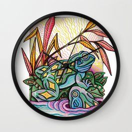 Two Frogs Wall Clock