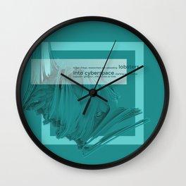 lobster in cyberspace Wall Clock