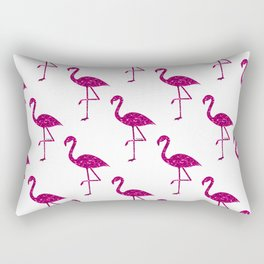 Sparkly flamingo Pink glitter sparkles pattern Rectangular Pillow
