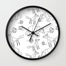 Geometric Animals Pattern Wall Clock