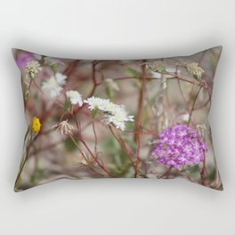 Desert Wildflowers at Coachella Wildlife Preserve Rectangular Pillow