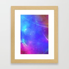 Abstract Pink and Purple Cosmic Space Design Framed Art Print