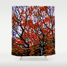 Raging Trees Shower Curtain