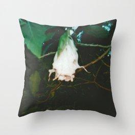 White Datura Throw Pillow