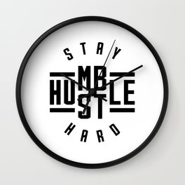 Stay Humble Hustle Hard v2 Wall Clock