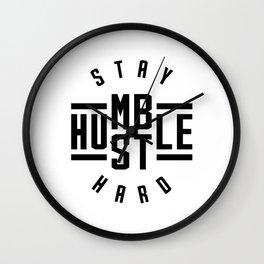 Stay Humble Hustle Hard v2 Wall Clock