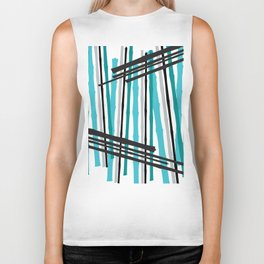 Jib Street Abstract Bamboo Biker Tank