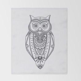 O W L - B&W Throw Blanket
