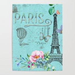 Paris - my blue love Poster