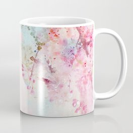 Pink Watercolor Floral Coffee Mug