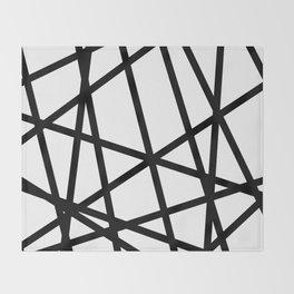 Lazer Dance Black on White Throw Blanket