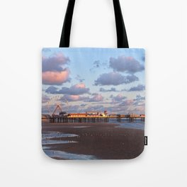 Blackpool Central Pier Sunset Tote Bag