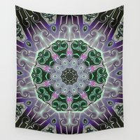 stained glass Wall Tapestries featuring Stained Glass  by IowaShots
