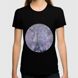 Purple Paris Watercolor Art T-shirt