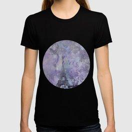 Purple Paris Watercolor Art T-shirt