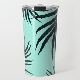 Palm Leaves Pattern Summer Vibes #7 #tropical #decor #art #society6 Travel Mug