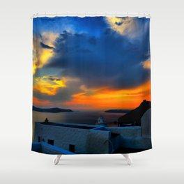 Santorini 28 Shower Curtain