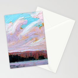 Tom Thomson - Pink Clouds - Canada, Canadian Oil Painting - Group of Seven Stationery Cards