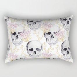Floral skull glam Rectangular Pillow