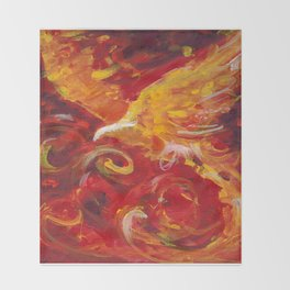 Pheonix Bright  Throw Blanket