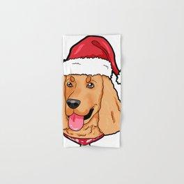 Cocker Spaniel Dog Christmas Hat Present Hand & Bath Towel