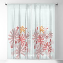 Floral Vase 3  #society6 Sheer Curtain