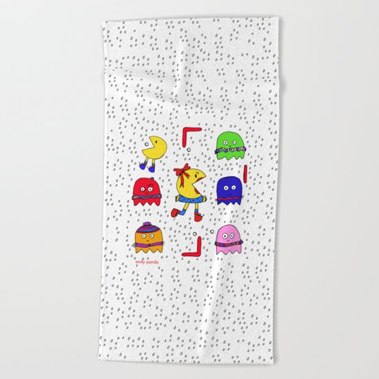 Winter game Beach Towel