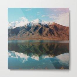 Film photo of New Zealand Glacier Landscape Metal Print