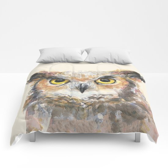 Owl Great Horned Bird Animals Comforters