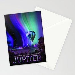 NASA Jupiter Planet Retro Poster Futuristic Best Quality Stationery Cards