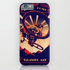 retro mountain bike poster: kick some gravity ass iPhone 6s Slim Case