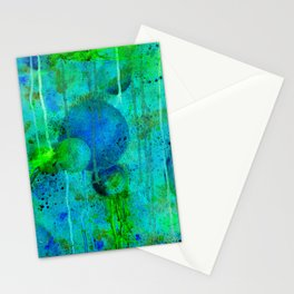 Blue Planets Bursting Plasma Stationery Cards