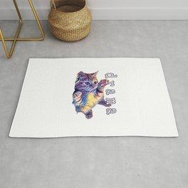 Kitten drama Rug