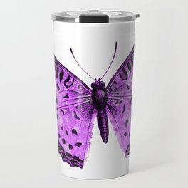 Luxurious Lilac-Pink Butterfly Travel Mug