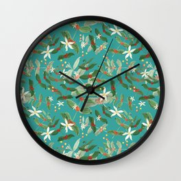 coffe plant Wall Clock