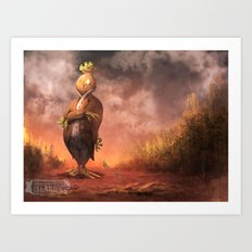 Money Scarecrow Art Print