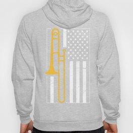 United States Flag & Marching Band Trombone Hoody