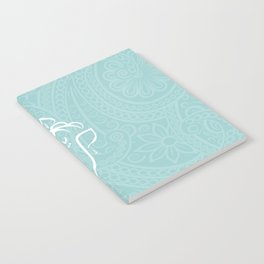 Blue Ganesh - Hindu Elephant Deity Notebook
